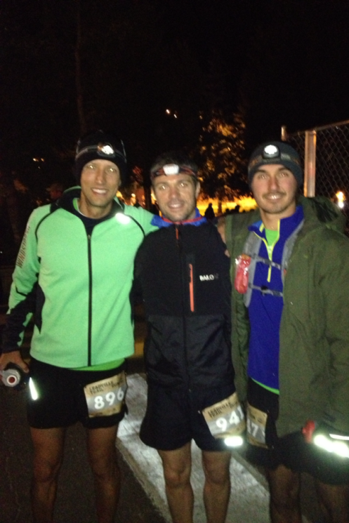 Me (L), Alberto (M), and Ryan (R) looking more confident than we were feeling pre-race.
