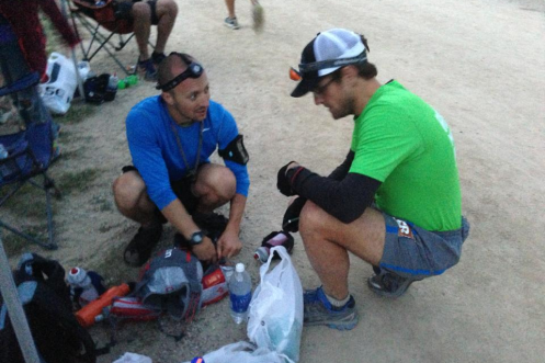 Matt and Andres readying for a handoff.  These guys saved my day.  Photo: Alison Randall